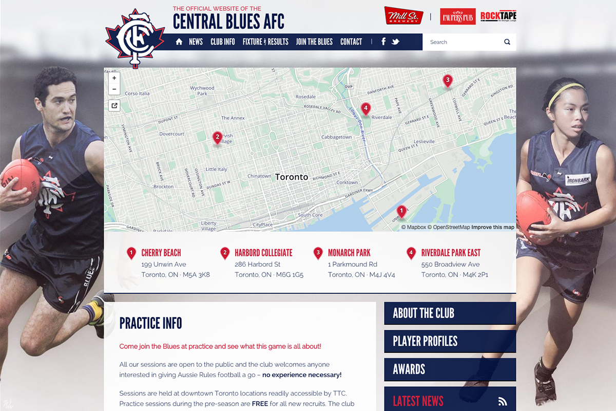 Central Blues - Practice Info