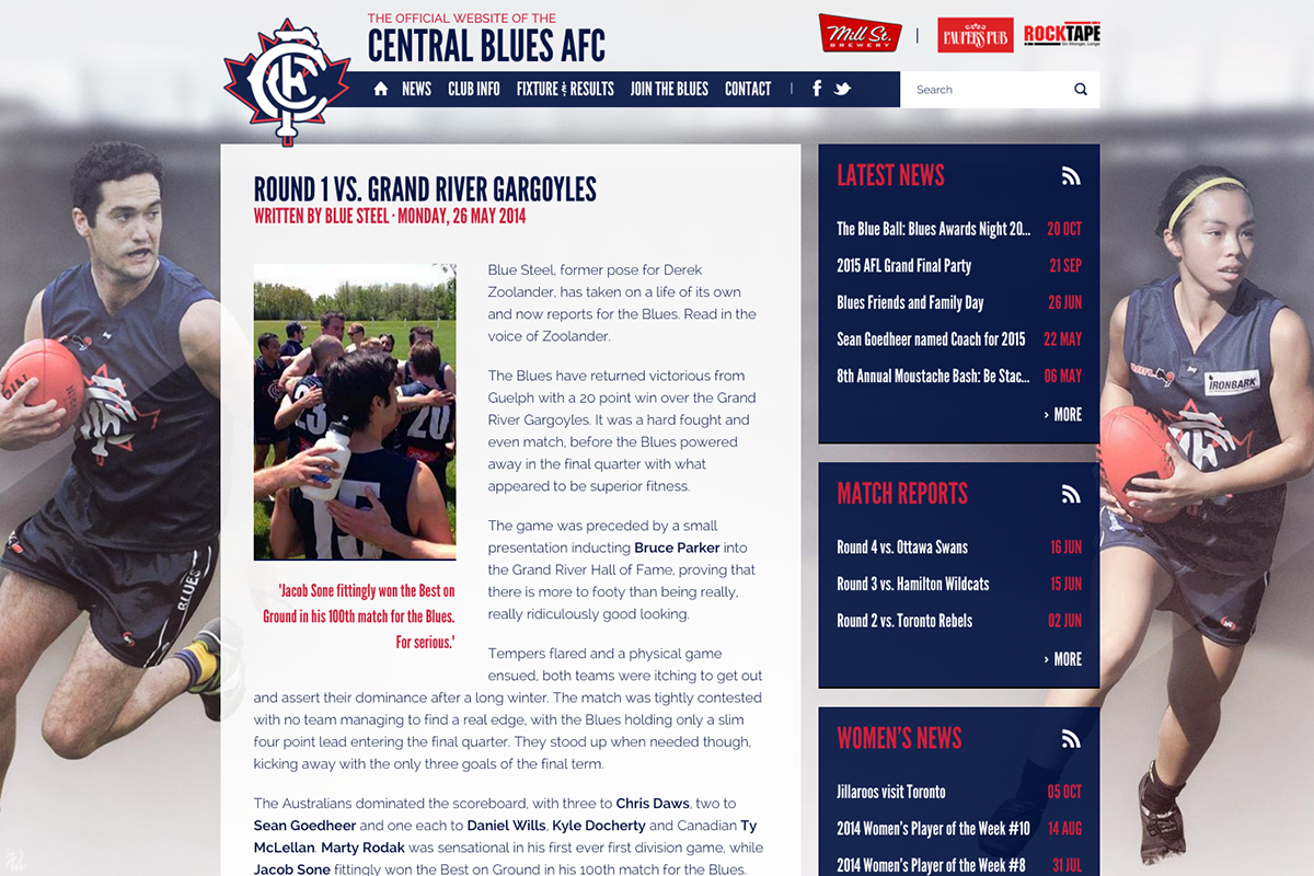 Central Blues - News Article